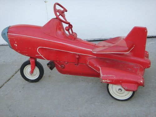 RARE MURRAY ATOMIC MISSILE PEDAL CAR JET PLANE AIRPLANE RIDE ON TOY 1955 - 1963 We had one very similar to this as kids.. :-)