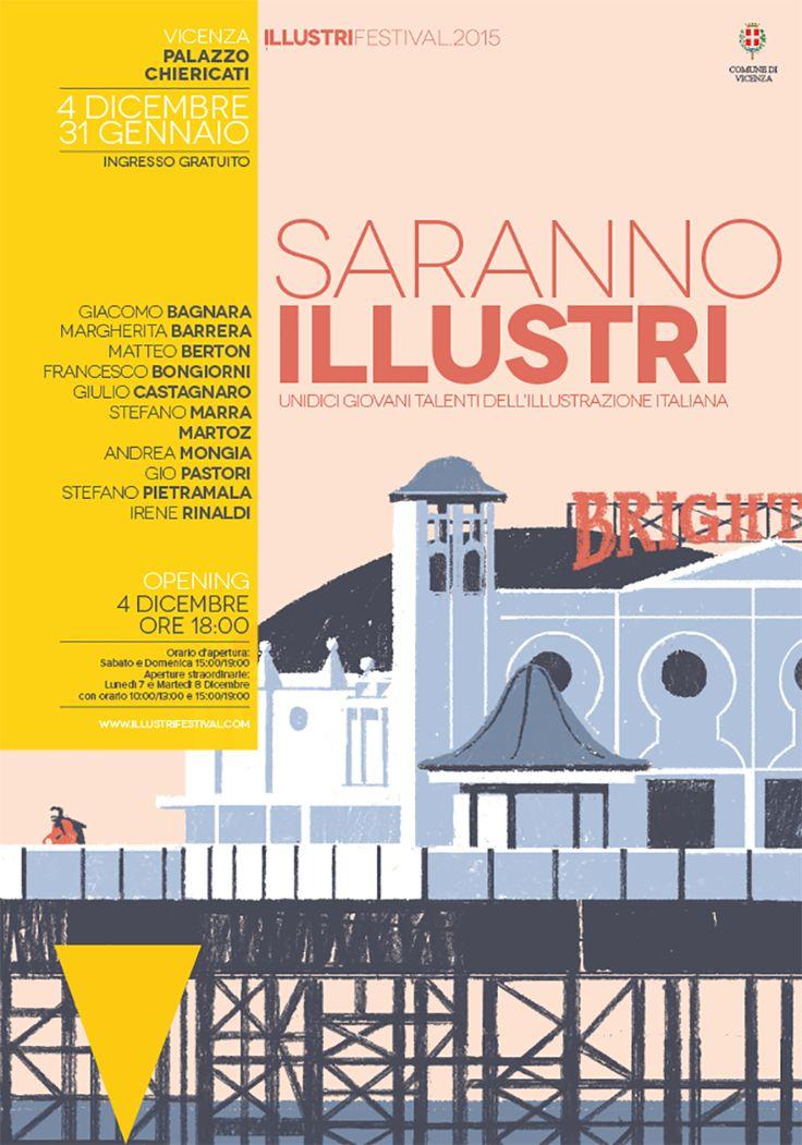 Novecento Sans wide font in use for Illustri Festival, Vicenza Italy.