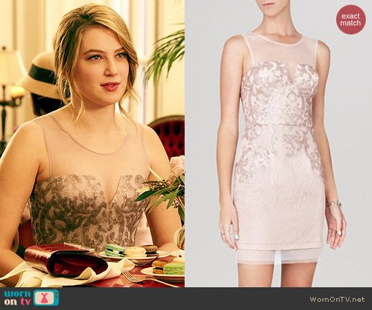Kara's sequinned illusion dress in Paris on Red Band Society.  Outfit Details: http://wornontv.net/45412/ #RedBandSociety