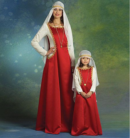 M5499 Misses'/ Girls' Medieval Costumes
