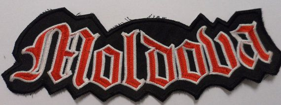 Moldova biker  patch by embroiderypapatedy on Etsy
