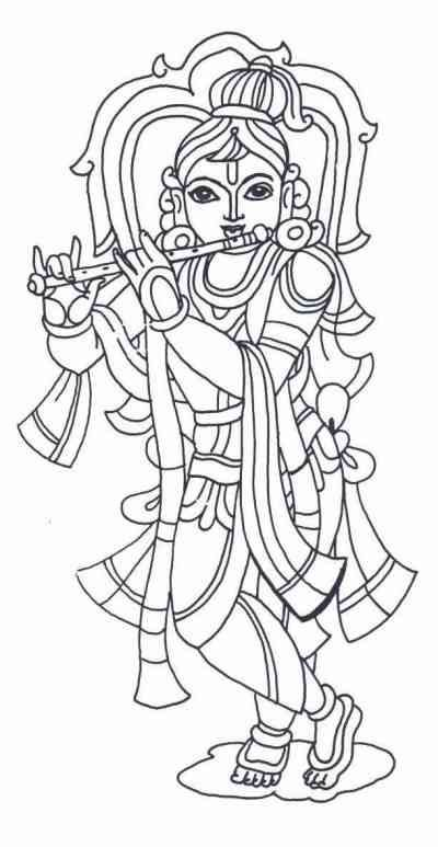 krishna coloring - Google Search