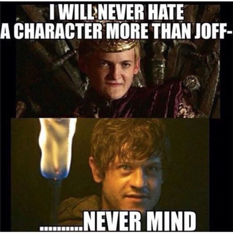 24 memes only Game of Thrones fans will understand. Actually I liked joffrey in the end.. then he died :''D