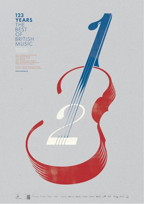 The 9 Graphic Design Trends You Need to Be Aware of In 2016 – Look closely at the shapes and spaces created by the violin in Sam Hadley's concert poster. They form a series of numbers—1, 2, and 3—which are part of the event name