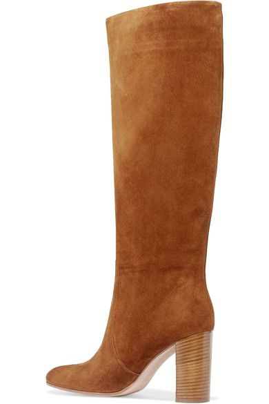 Gianvito Rossi - Suede Knee Boots - Brown - IT36.5