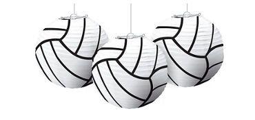 Volleyball Paper Lanterns 3ct