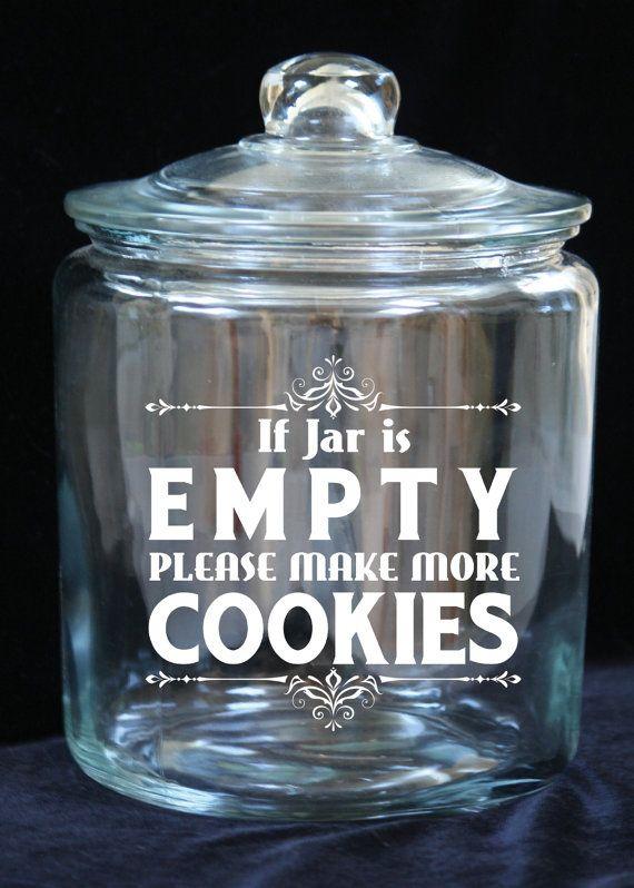 1 Gallon Glass Cookie Jar If Jar is Empty...Please by JoyousDays