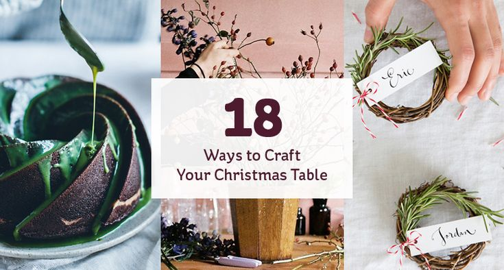 These 15 projects show how easy it is to produce a curated and memorable Christmas dinner table display. What better occasion is there to show off your festive crafting prowess?