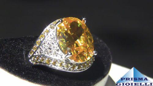Anello-donna-in-argento-massiccio-925-morganite-ovale-topazio-con-citrino
