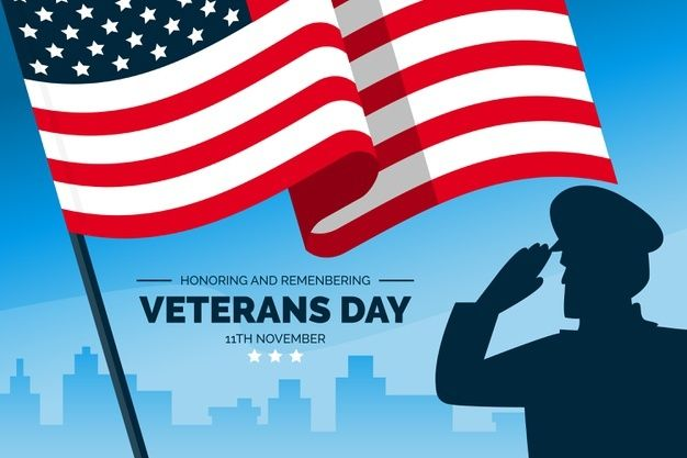 Download Veterans Day Concept In Flat Design For Free Holiday Poster Vector Free Day