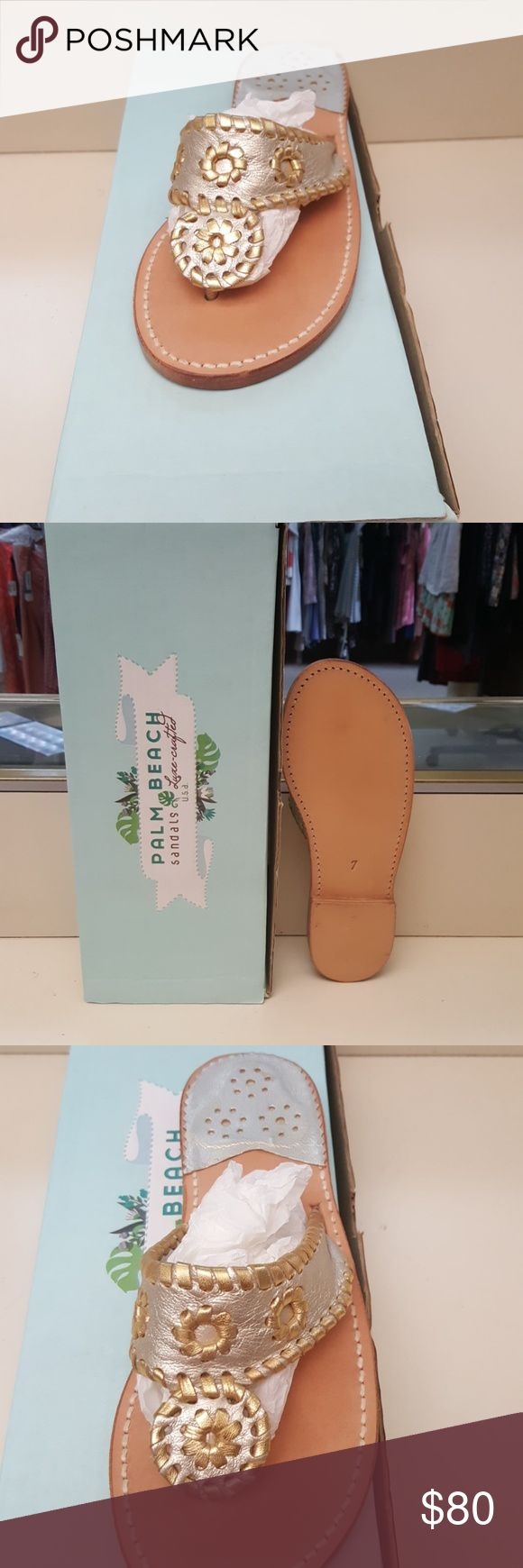 New Palm Beach Sandals New never owned, we are a retail store this is a overstock item, warranty on sandals from PB, GREAT DEAL!! Palm Beach Shoes Sandals