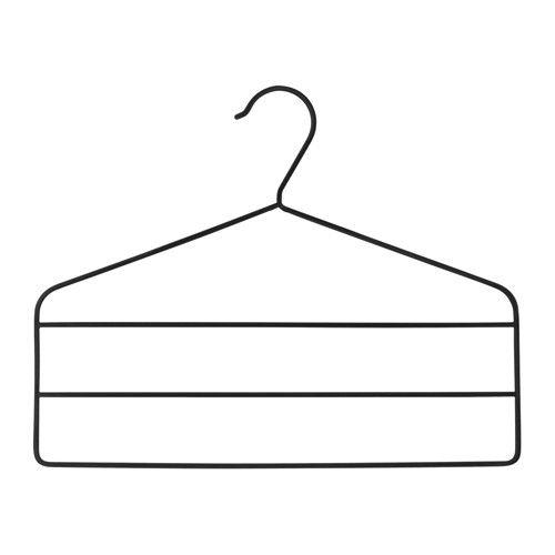 STRYKIS Wieszak na spodnie IKEA Łagodne kształty i aksamitna powierzchnia wieszaka na spodnie utrzymuje ubrania w miejscu bez pozostawiania śladów.