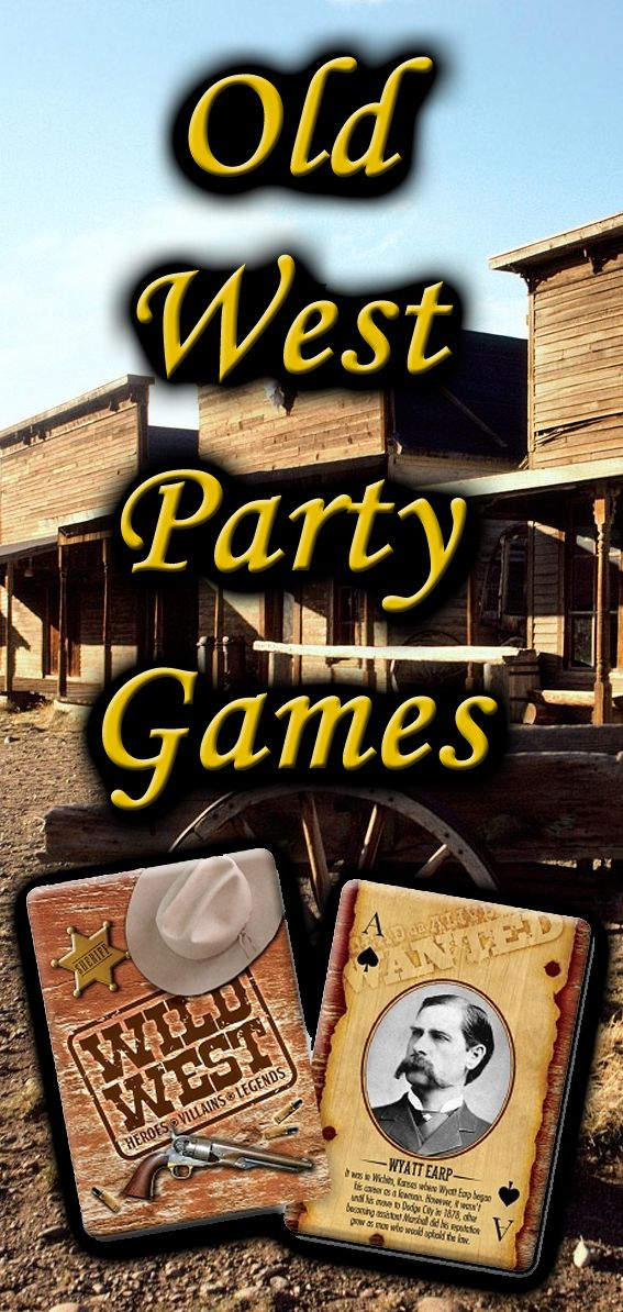Western theme party games that go beyond the traditional - surprise them with these unique old west games!