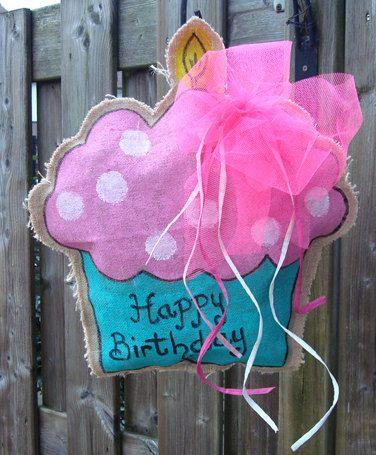 Handgemaakte Jute Deurhanger Cupcake van Atelier 42 op Etsy