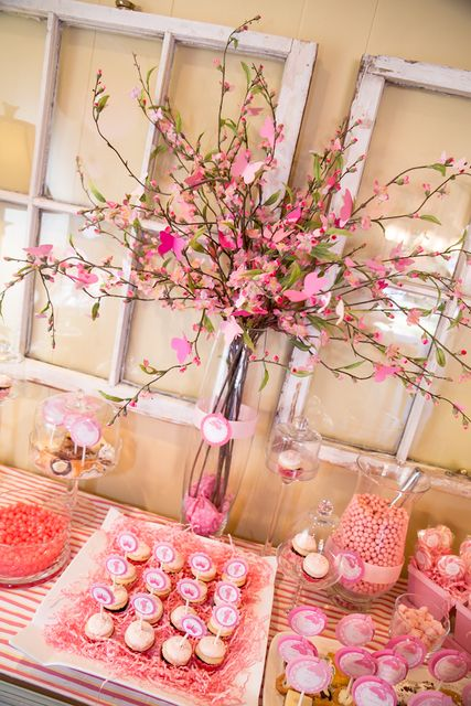 Pink Butterflies Birthday Party treats!  See more party ideas at CatchMyParty.com!