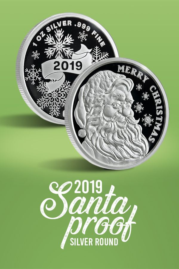 Merry Christmas Santa Proof 1 Oz Silver Round 999 Fine Real Silver Direct From The Mint Click Here For A Gift Silver Silver Bars Merry Christmas Santa