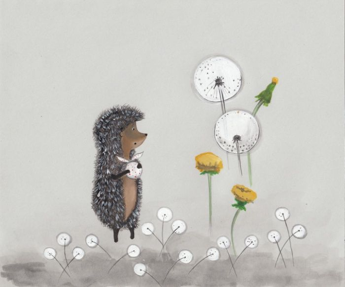 Hedgehog in the Fog Art Print