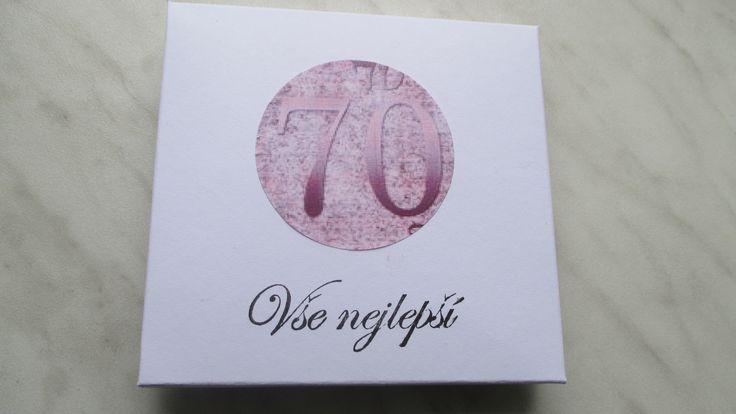 Krabička na přání k sedmdesátinám