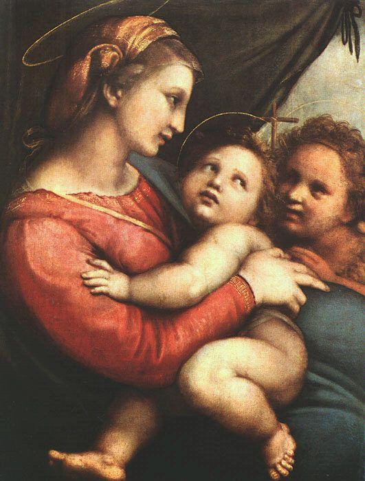 Raphael. Madonna della Tenda, 1514