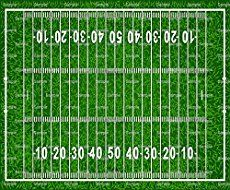 Ny Giants Football Field Cake! Go Big Blue! Field goal view. Football through the uprights.