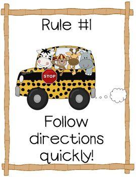 Jungle theme rules