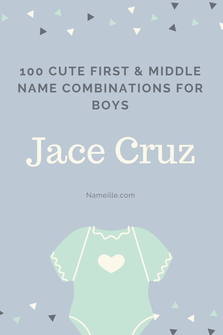 100 Cute First And Middle Name Combinations For Boys Baby Boy Middle Names Boy Middle Names Names For Boys List