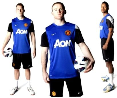 Jual Jersey Training Manchester United Warna Biru 2014 Grade Original