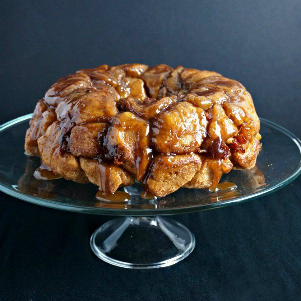 Bourbon, Bacon, and Brown Sugar Monkey Bread - Cooking with Cakes