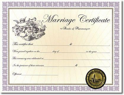 Home :: Certificates :: Classic Marriage Certificate ...