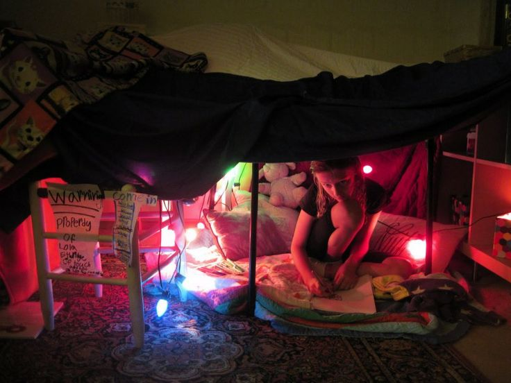 Blanket Fort With Lights Just Like Our Lilly