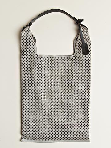 Jil Sander Women's Laser Cut Perforated Market Bag