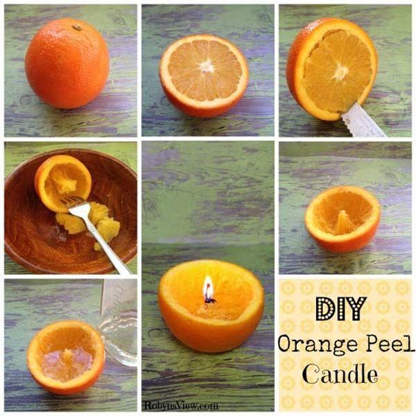 3.) Orange Peel Candles