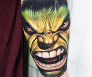 The incredible hulk tattoo Khail Tattooer