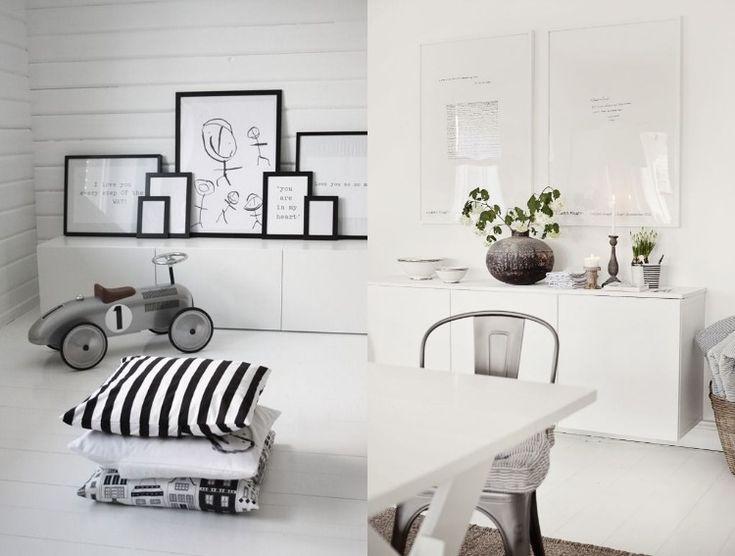 Die besten 25+ Sideboard schwarz weiß Ideen auf Pinterest - wohnungseinrichtung schwarz wei