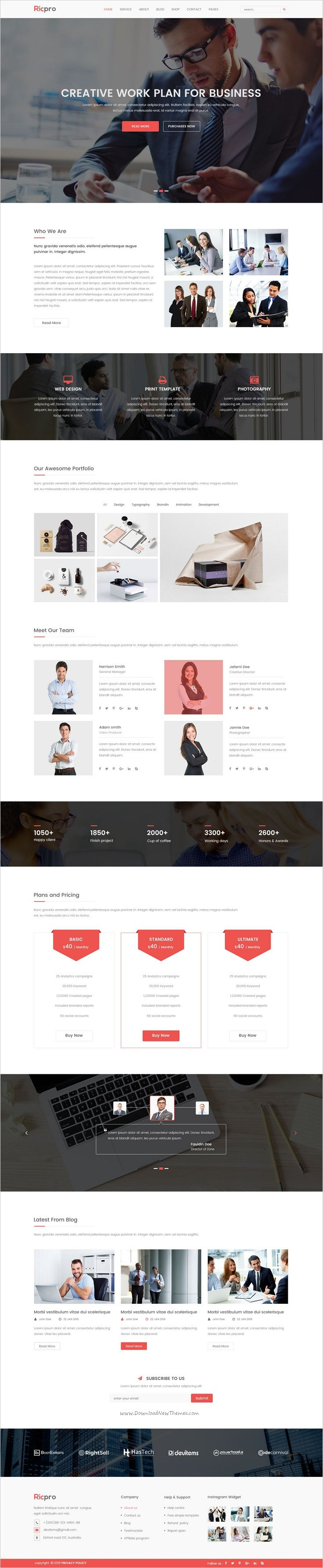 Ricpro - Corporate PSD Template