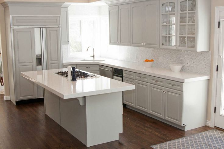 Best White Kitchen Cabinets With Quartz Countertops Room And 400 x 300