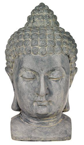 "Buddha Head Cast Resin 18 1/2"" High Outdoor Statue Universal Lighting and Decor http://www.amazon.com/dp/B002NTP6CI/ref=cm_sw_r_pi_dp_qNcZvb0ZE4CCF"