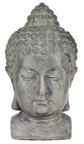 "Meditating Buddha Head 18 1/2"" High Outdoor Statue Univer... https://smile.amazon.com/dp/B002NTP6CI/ref=cm_sw_r_pi_dp_x_jNPwzbMXB8299"