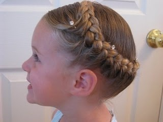 Half French Braided Crown from Babes in Hairland