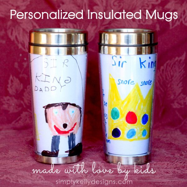 Personalized Insulated Mugs Made With Love By Kids | Simply Kelly Designs