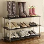 Seville Classics Resin-Wood Composite 3 Tier Utility Shoe Rack & Reviews | Wayfair