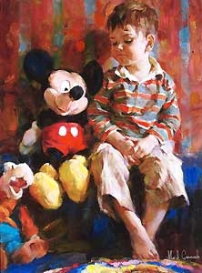 Mickey Mouse - Playtime Pals - Michael and Inessa Garmash - World-Wide-Art.com - $795.00 #Garmash #Disney #Mickey