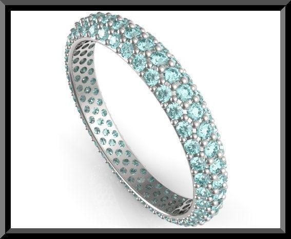 Aquamarine Wedding Ring For Women