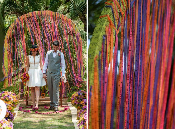 Casamento colorido . Fitas do Senhor do Bonfim