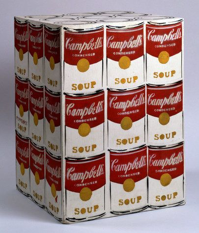 """Andy Warhol, """"Campbell's Soup Box"""", 1962."""