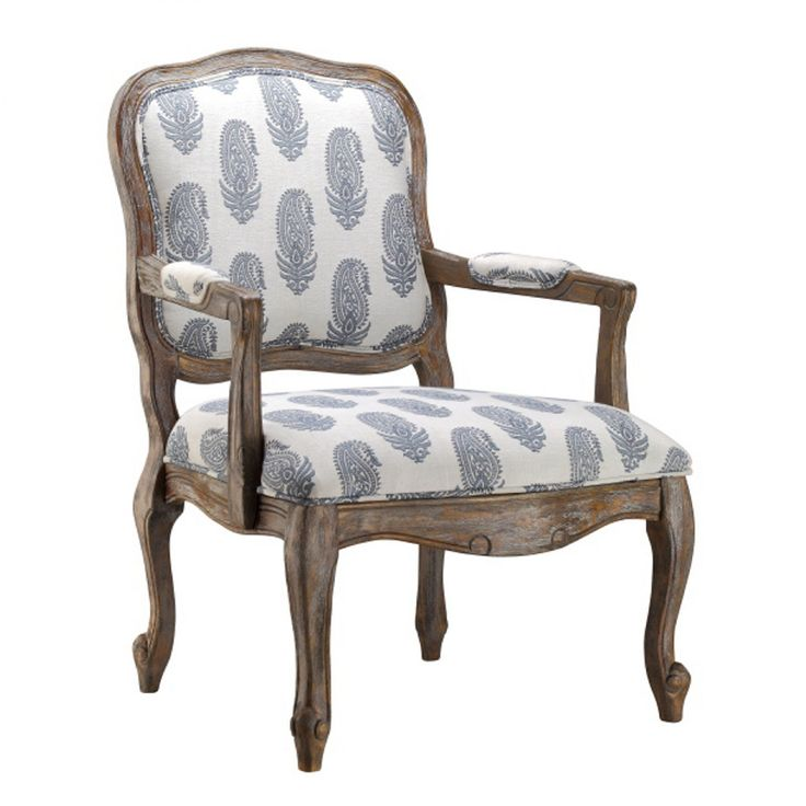 a timeless addition to your living room or master suite this charming arm chair showcases an upholstered feather motif and cabriole legs