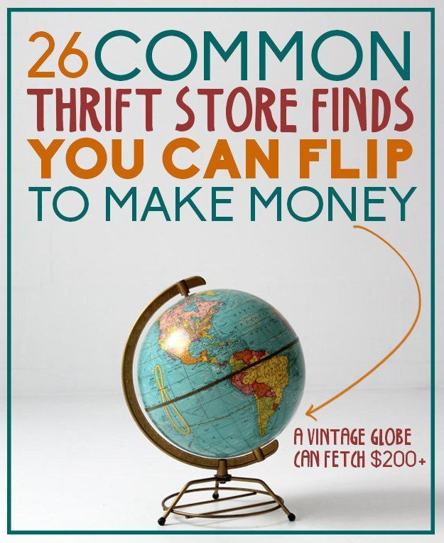 26 Common Thrift Store Finds You Can Flip To Make Money....a fun way to make money in college if you enjoy thrifting! money ideas, money principles, #money