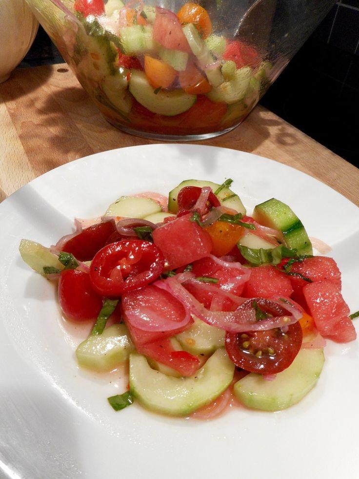 Insalata di Cocomero e Pomodoro (Watermelon Tomato Salad)