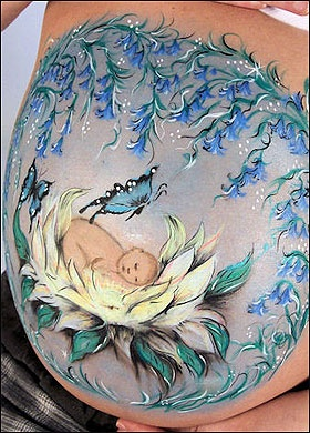 Sweet belly painting - ✯ www.pinterest.com/WhoLoves/Body-Art ✯ #BodyArt