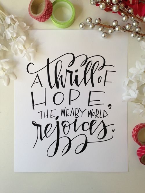 A thrill of hope...